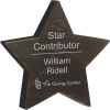 Black Marble Star Paperweight Achievement Awards