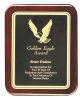 Rounded Piano Finished Rosewood Plaque Achievement Awards