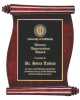 Rosewood Piano Finish Vertical Scroll Plaque Achievement Awards