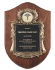 Walnut Cast Corporate Shield Plaque Cast Relief Plaques