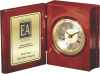 Rosewood Piano Finish Book Clock Clocks
