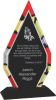 Diamond Stained Glass Acrylic with Black Base Employee Awards
