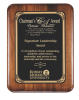 Rounded edge/corner Walnut Plaque Sales Awards