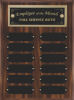 Perpetual Plaque Assembled with Black Plates Wall Plaque Awards