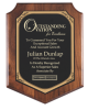 Walnut Finish Shield Plaque Wall Plaque Awards