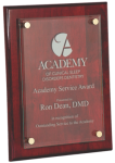 Rosewood Piano Finish Floating Plaque Achievement Awards