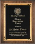 Walnut Beveled Recognition Plaque Achievement Awards