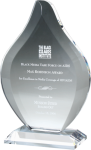 Flame Clear Optical Crystal Awards