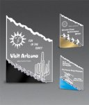 Sculptured Frosted Mountain Award Colored Acrylic Awards