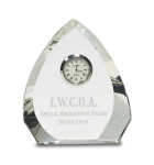 Crystal Arrowhead Clock Employee Awards