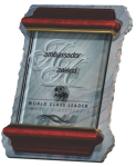 Slate and Glass Plaque Employee Awards