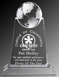 Paramount Spinning Globe Crystal Award Prestigious Optic Crystal