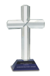 Religious Cross Crystal Award Religious Awards