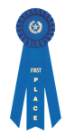 Stock 3 Stream Rosette; Dovetailed Ribbon Awards