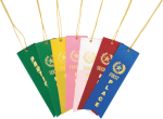 Custom Full Color Card & String Ribbon Ribbon Awards