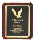 Rounded Piano Finished Rosewood Plaque Sales Awards