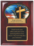 Rosewood Piano Finished Plaque with Resin Plaque Mount and Plate Wall Plaque Awards