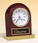 Rosewood Piano Finish Clock Wood Metal Accent Awards